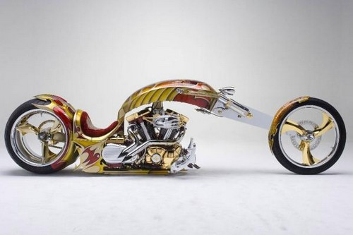 Gold-plated-custom-chopper-