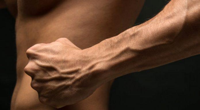 big forearms crushing grip