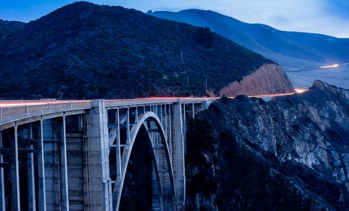 Bixby Bridge Sunset, big sur California highway