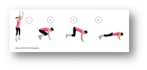 plank jump back exercise