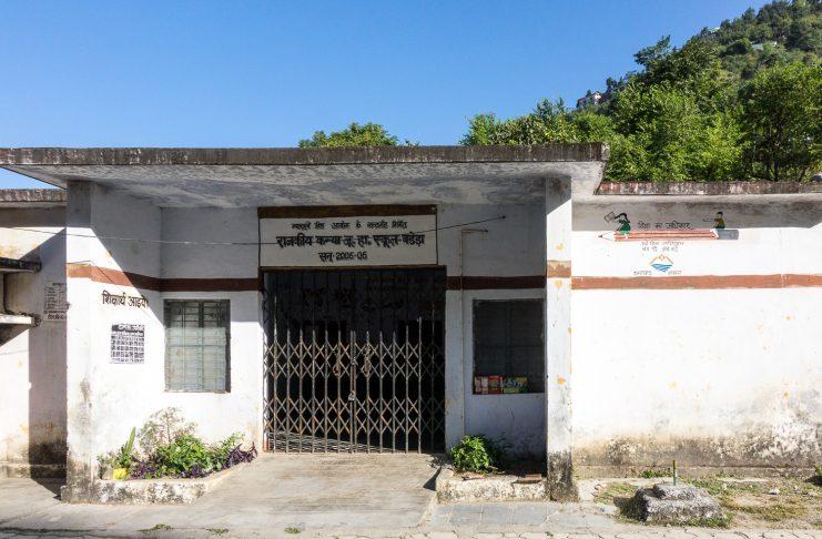 A ramshackle school in India