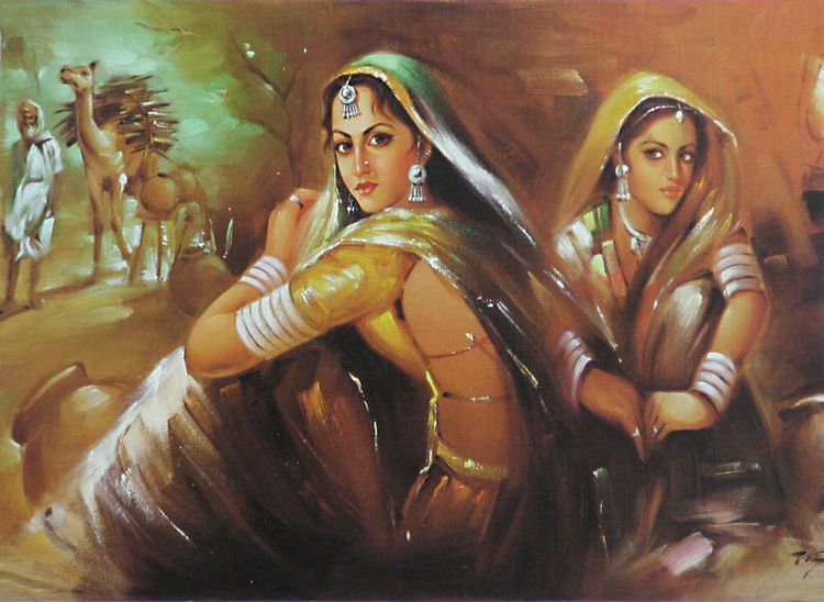 rajasthani indian women through the eye of a painter