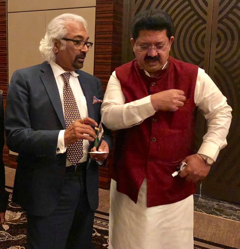 Sam Pitroda with Mansoor Palloor