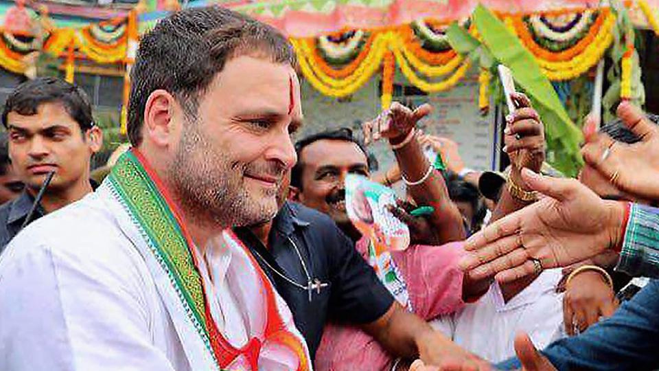 Rahul Gandhi temple visit Koppal Karnataka