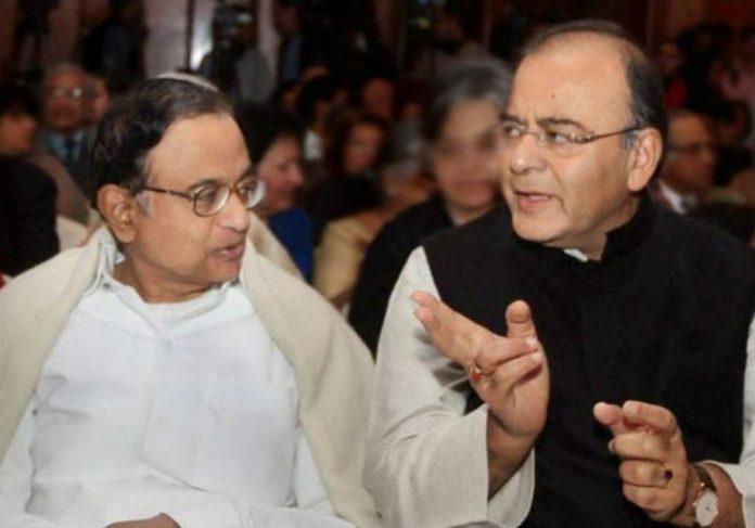 Jaitley chidambaram Spar over hype of GST