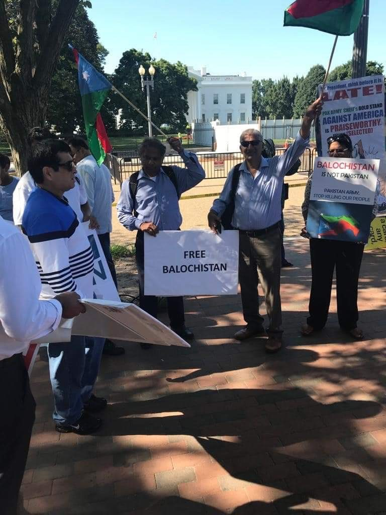 Balochs protesting during Imran's visit to US