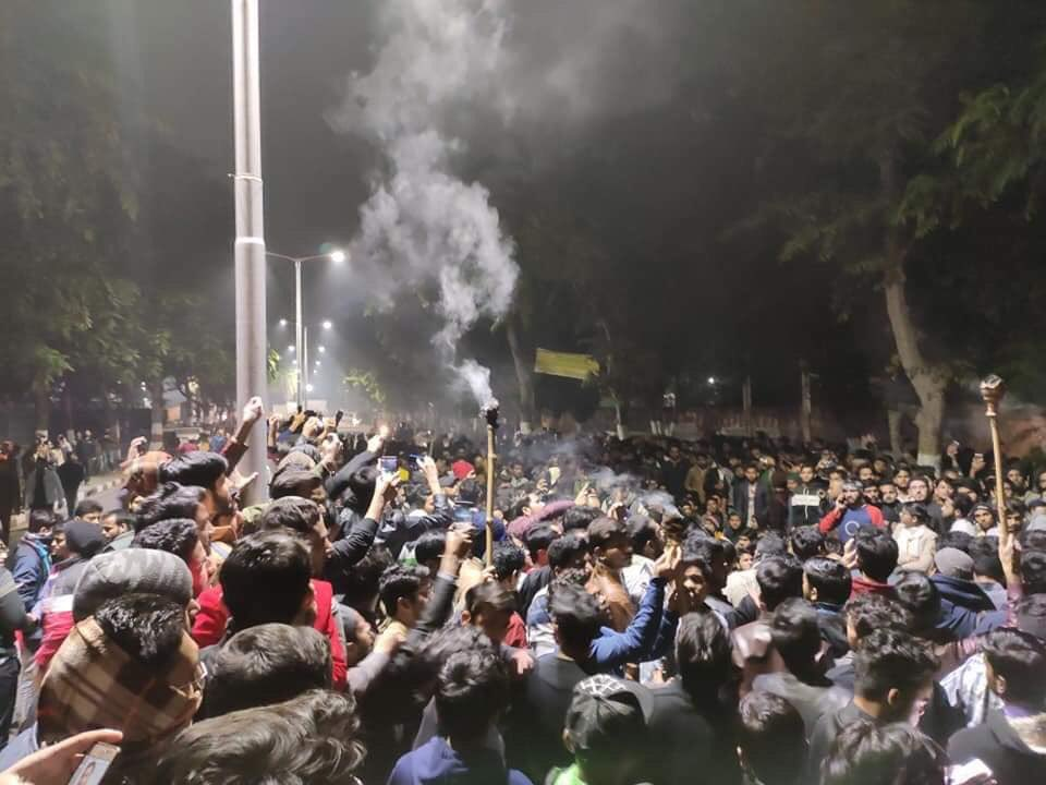 AMU Students Protest against CABbill