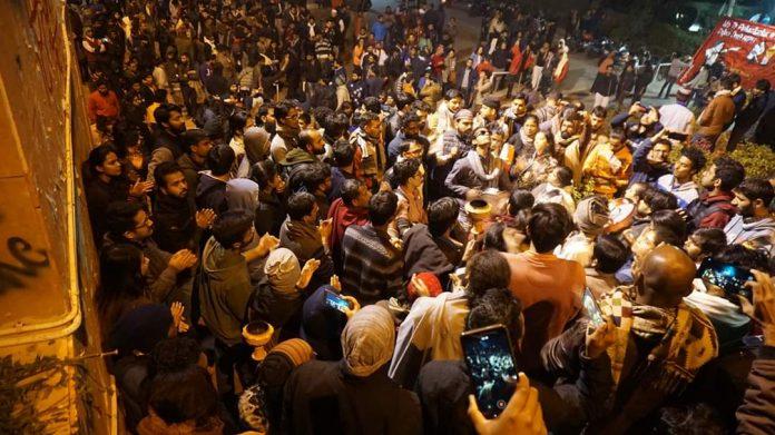 JNU Student Protests (Pic credits: @Jnu_voice