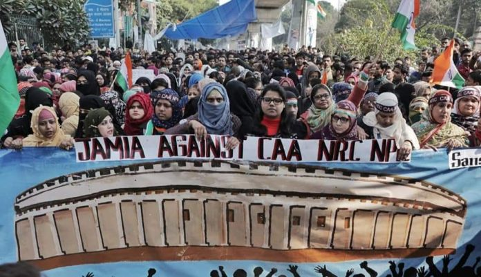 Jamia Millia Students Marching to The Indian Parliament