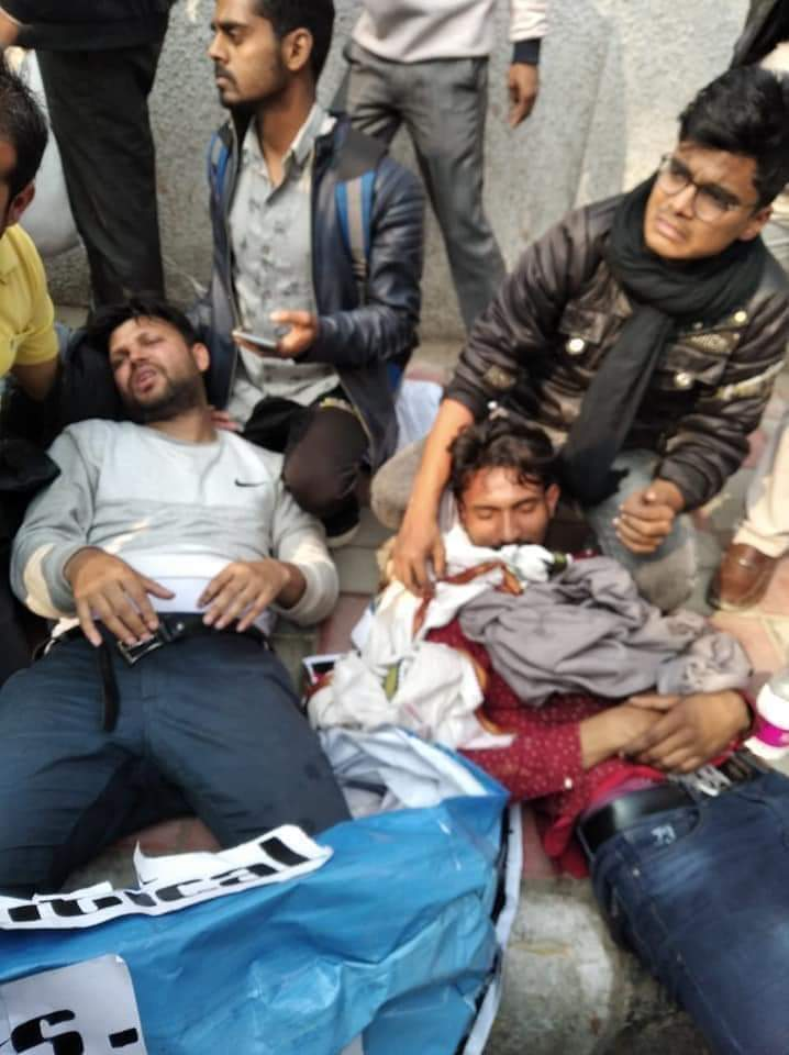 Jamia Millia Injured students Anti-CAA Protest