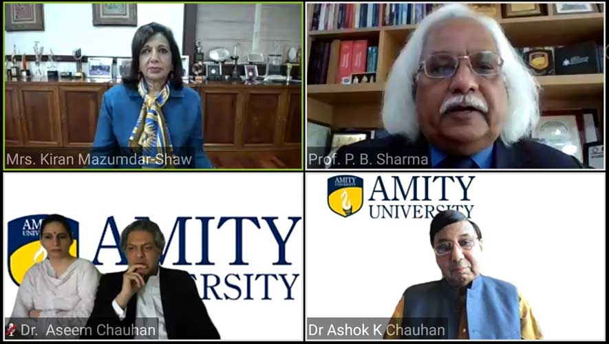Kiran Mazumdar Shaw - Amity Webinar