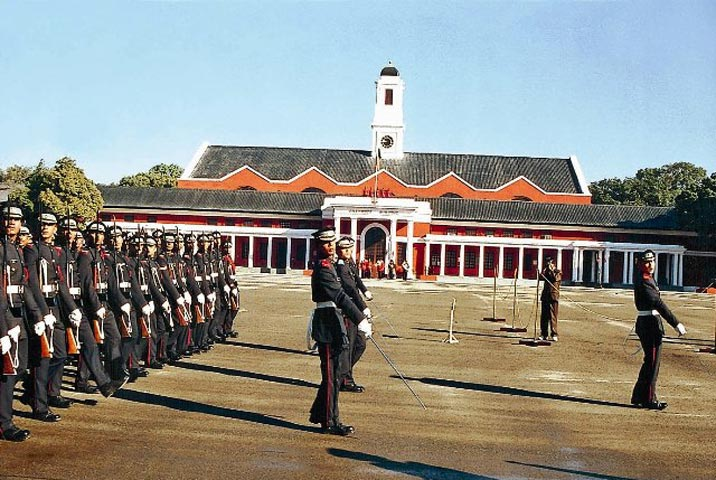 Cadets are trained at the Indian Military Academy