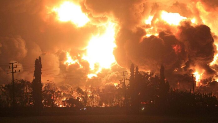 Indonesia Refinery fire