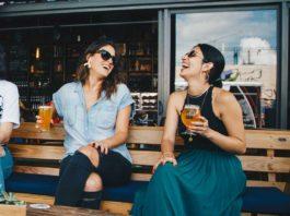 Women Enjoying A Drink